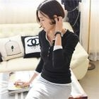 Long-Sleeve Ribbed Slim-Fit Henley 1596