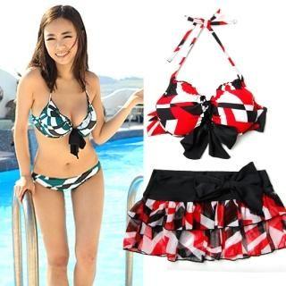 Buy Soneed Set: Halter Bikini + Skirt 1022881840