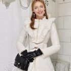 Ruffled Bow-Accent Down Coat 1596