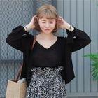 Set: Open-Front Cardigan + Sleeveless Knit Top 1596