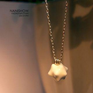 Ceramic Charm Necklace White - One Size