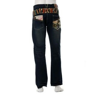 Picture of Buden Akindo Double Waistband Printed Trim Jeans 1012615556 (Buden Akindo, Mens Denim, Japan)