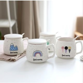 Print Ceramic Cup with Lid 1058059263