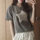 Sequined Star Crewneck T-Shirt от YesStyle.com INT