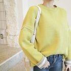 Drop-Shoulder Knit Top 1596