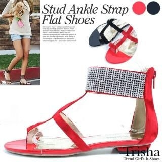 Picture of Trisha Studded Thong Sandals 1022810627 (Sandals, Trisha Shoes, Korea Shoes, Womens Shoes, Womens Sandals)