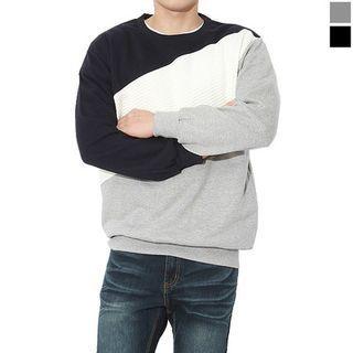 Round-Neck Color-BLock Sweatshirt 1055553173