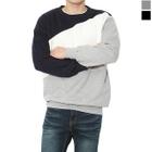 Round-Neck Color-BLock Sweatshirt 1596