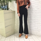 Plain Boot-cut Pants 1596