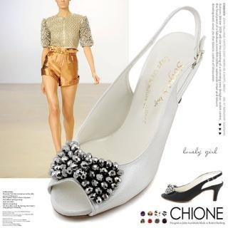 Picture of Chione Open-Toe Slingback Sandals 1023005595 (Sandals, Chione Shoes, Korea Shoes, Womens Shoes, Womens Sandals)