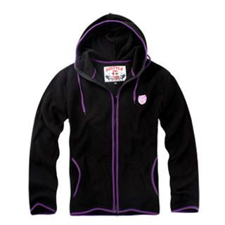 Buy Justyle Contrast-Piping Appliqu d Fleece Hoodie 1021545548
