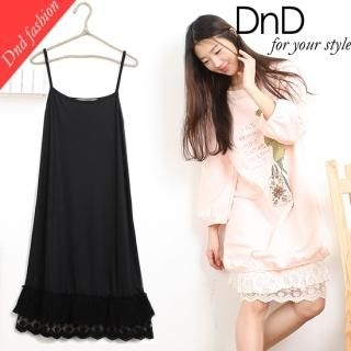 Buy DnDshop Lace-Hem Slipdress 1022278935