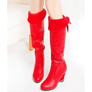 "Buy KAWO Rhinestone ""Bow"" Long Boots 1023006299"