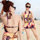 Set: Printed Halter Bikini + Cover-up 1596