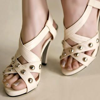 Buy Kvoll Studded Cross-Strap Sandals 1022653817