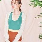 Color-Block Knit Swimsuit 1596