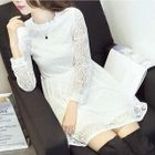 Lace Long Sleeve Dress 1596