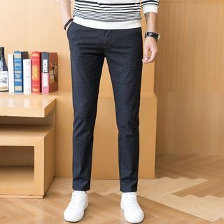 Plain Straight-Cut Pants