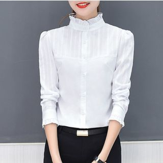 Long-sleeve | Collar | Blouse | Stand