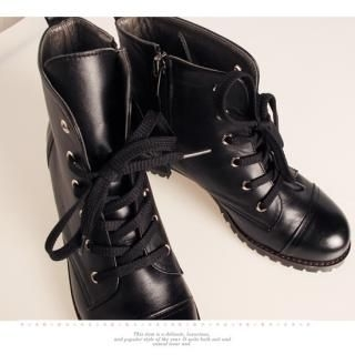 Picture of Getme Laced up Boots 1022388996 (Boots, Getme Shoes, Korea Shoes, Womens Shoes, Womens Boots)