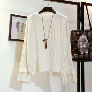 Ribbed Long-Sleeve Knit Top 1064692789