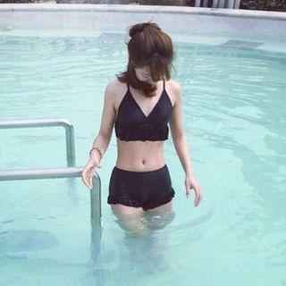 Frill trim Bikini 1056740197
