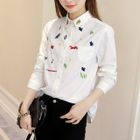 Embroidered Shirt White - XL от YesStyle.com INT