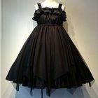 Frilled Sleeveless A-Line Dress 1596
