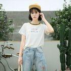 Short-Sleeve Lettering T-Shirt 1596