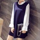 Long-Sleeve Chiffon Dress 1596