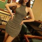Open Back Sleeveless Knit Dress 1596