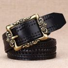 Woven Embossed Genuine Leather Belt от YesStyle.com INT