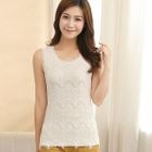 Lace Panel Sleeveless Top 1596