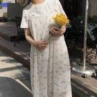 Set: Short-Sleeve Midi T-Shirt Dress + Strappy Midi Dress 1596
