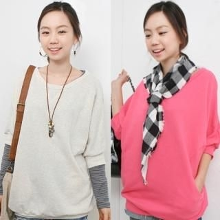 Picture of CLICK 3/4 Sleeve Top 1022239266 (CLICK Tees, Womens Tees, South Korea Tees, Tees, 3/4 Sleeve Shirts)