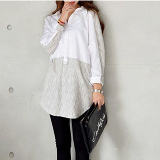 Panel Loose-Fit Blouse White - One Size 1057164729