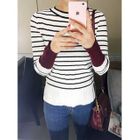 Stripe Ribbed Knit Top 1596