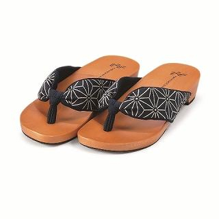 Picture of Mizutori Japanese Geta-monogatari Wooden Sandals 1022543211 (Sandals, Mizutori Shoes, Japan Shoes, Mens Shoes, Mens Sandals)