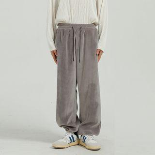 Corduroy Drawstring Sweatpants