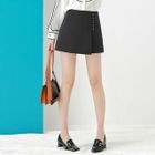 Plain A-Line Mini Skirt 1596