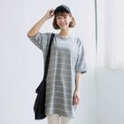 Stripe Stripe T-shirt Dress 1596