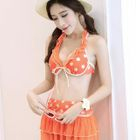 Set: Ruffled Polka-Dot Bikini + Skirt 1596