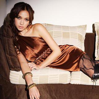 Buy Joanne Kitten One-Shoulder Satin Party Dress 1022568268