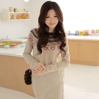 Picture of CLICK Patterned Sweater Dress 1021922195 (CLICK Dresses, Womens Dresses, South Korea Dresses, Sweater Dresses)