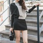 Long-Sleeve Color-Block Dress 1596