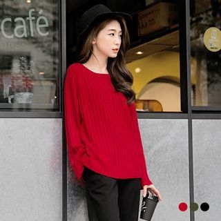 Ribbed Slouchy Raglan Sweater 1053064803