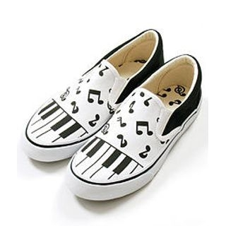 Buy Sechuna Musical Notes Print Canvas Shoes 1005062747
