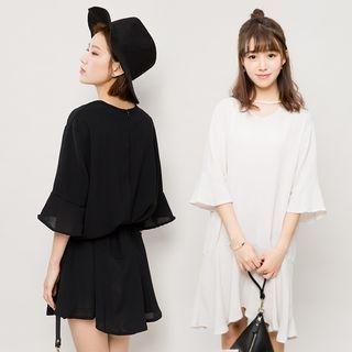 Cutout Bell-Sleeve Dress 1050303348