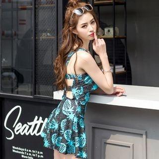 Pineapple Print Swim Dress 1060709451