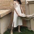 Frill Trim Strap Dress 1596